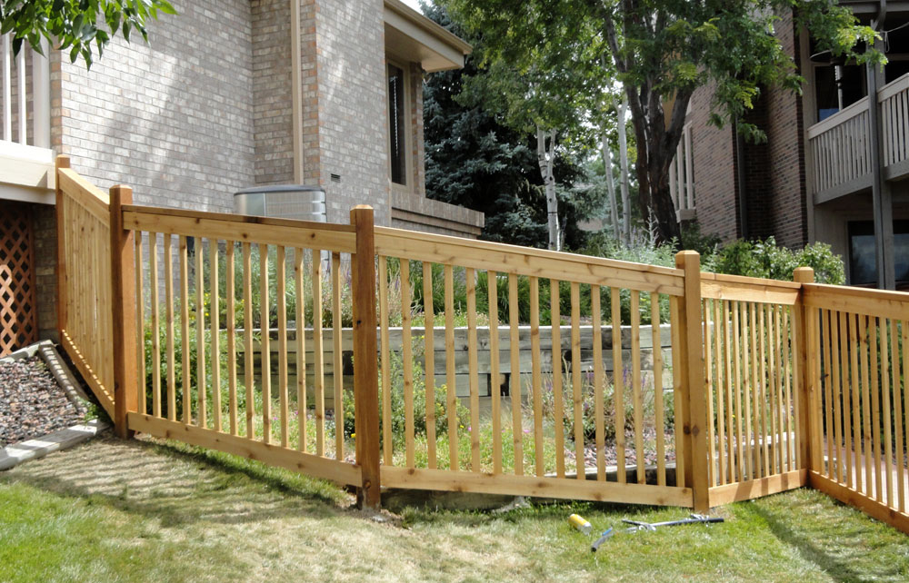 Wood fence by Lovewell Fencing