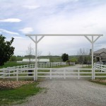 PVC vinyl gate with operators by Lovewell Fencing