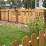 Residential wood fence by Lovewell Fencing